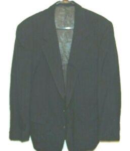 Burberry Jacket Blue Pinstripe Wool Pockets Sport Coat Blazer Men Size 44 R