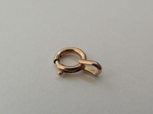 1 fermoir  anneau ressort   PL OR Ø 9 mm   DE RECHANGE POUR chaine GOURMETTE