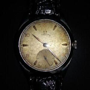 Reloj-de-caballero-OMEGA-Original-Carga-Manual-Funcionando