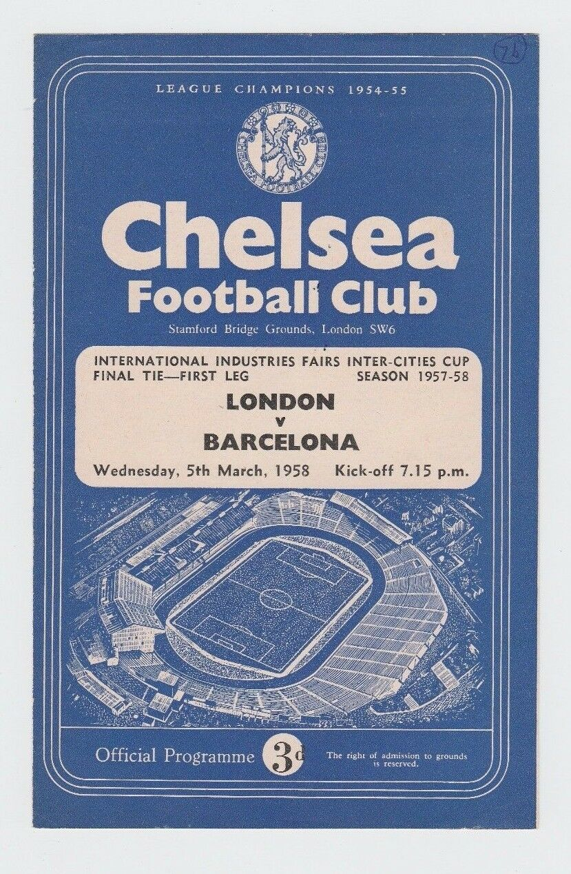 Orig.PRG   ICFC ICFC ICFC   UEFA Cup 1957 58  FINALE   LONDON - FC BARCELONA   TOP RARITÄT 6b37fe