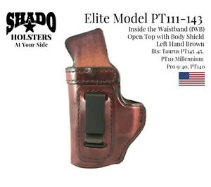 SHADO-Leather-Holster-USA-Elite-Model-PT111-143-Left-Hand-Brown-IWB-Taurus