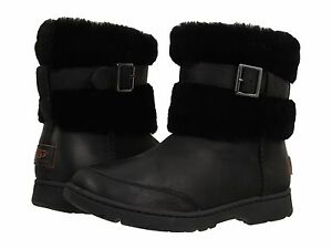 Image is loading NEW-WOMEN-UGG-BRIELLE-BLACK-BOOT-1008028-ORIGINAL
