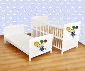 Juniorbett umbaubar 140x70 Weiß nr 8 Babybett  Kinderbett