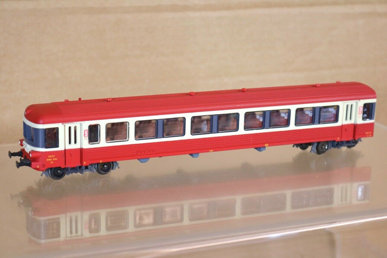 Jouef 5489 SNCF Rosso Crema Xrabx Dmu lungoitudinale auto 1st 2nd classee Loco 8734