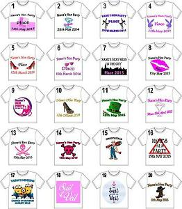 PERSONALISED-HEN-NIGHT-PARTY-IRON-ON-T-SHIRT-TRANSFERS-WHITE-LIGHT-FABRICS