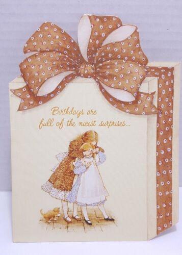 Vintage 1976 Holly Hobbie American Greeting Card Birthdays ...nicest surprises..