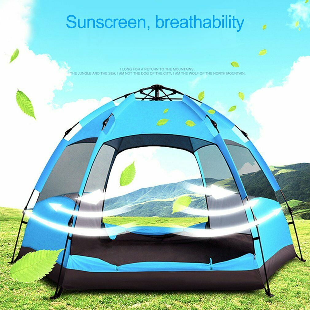 Sekundenzelt Quick Pine 3-7 Personen Zelt Campingzelt Pop Up Zelt Wurfzelt