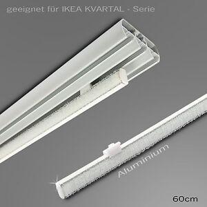 paneelwagen f r 4mm ikea schiene kvartal 60cm aluminium gardinenschiene ebay. Black Bedroom Furniture Sets. Home Design Ideas