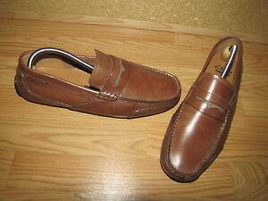 c701d80aec5b Clarks  Ashmont Way  Cognac Penny Loafers - Men s 8.5 European 42