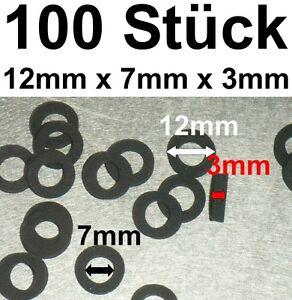 100x Joint d'étanchéité joint vibration AMORTISSEUR mousse 12x7x3mm vibrationsdämfer  </span>