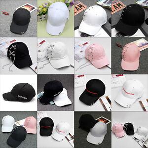 d0f13e4054a Men Women Piercing Baseball Cap Snapback Hat Hip-Hop Adjustable Ring ...