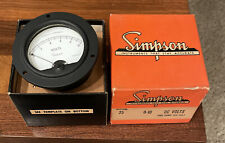 Simpson Model 25 Panel Meter 0 10 Dc Volts In Box