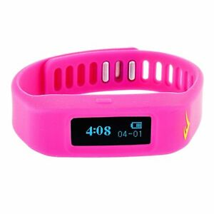 Everlast-TR1-Wireless-Sleep-Fitness-Activity-Tracker-Watch-LED-Display-Pink