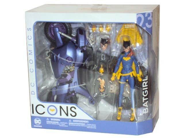 """DC Collectables DC ICONS BATGIRL of Burnside 6"""" Deluxe Figure & Motorbike SEALED"""