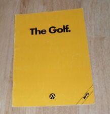 Volkswagen VW Golf Mk1 Brochure 1975 - 1.1 L - 1.5 S - 1.5  LS - 3 & 5 Door