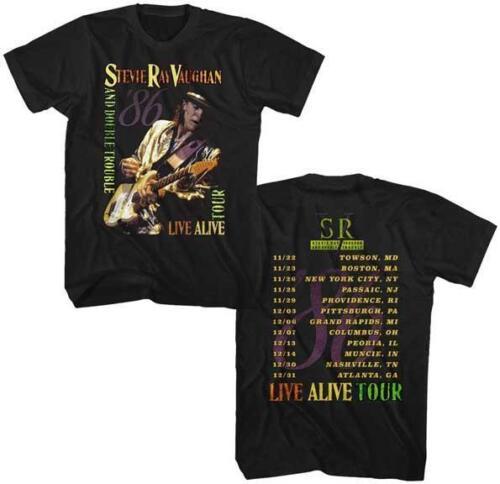 STEVIE RAY VAUGHN BLUES GUITAR CLASSIC VINTAGE ROCK CONCERT TOUR Adult T-Shirt 4