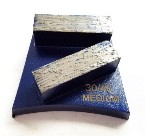 Medium Bond 3PK Trapezoid Quick change Grinding Disc Plate 30//40 Grit