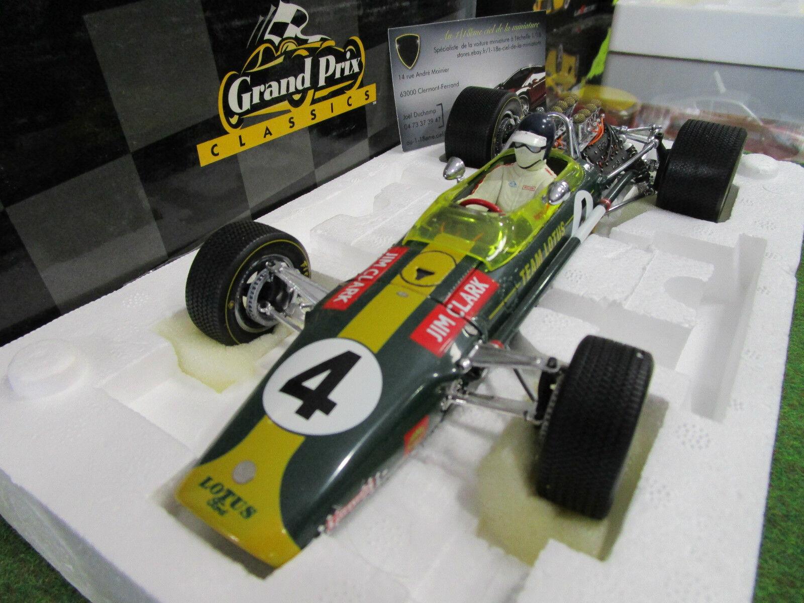 F1 LOTUS TYPE 49 Grand prix Afrique du Sud 1968 CLARK 1 18 EXOTO 97002 formule 1