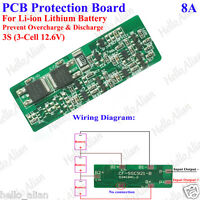 8A Protection Board Circuit For 3 Packs 18650 Li-ion Lithium Battery 11.1V 12.6V