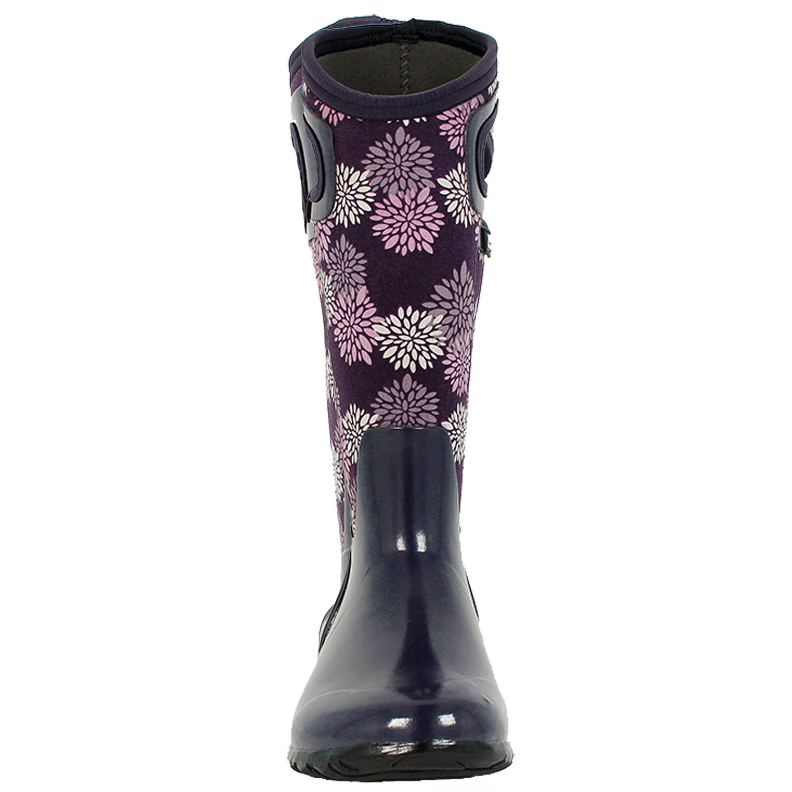 LADIES BOGS NORTH HAMPTON POMPONS WELLINGTON PLUM INSULATED WARM WELLINGTON POMPONS BOOT 72040 424924