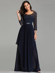 Details about UK Ever-Pretty Plus Size Lace Long Evening Party Dresses  Bridesmaid Prom Gowns