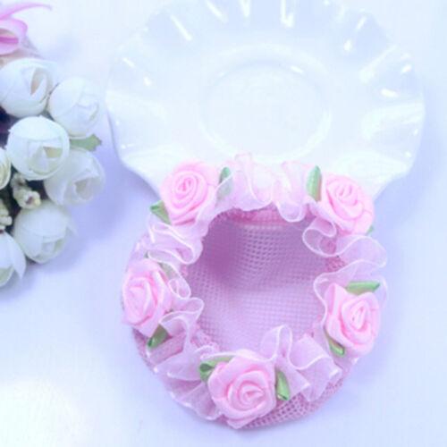 Cute flower girl bun mesh for hair for baby bun net bun cover accessories M/&R