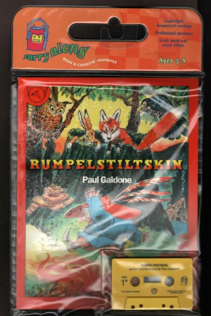 Rumpelstiltskin - Book & Cassette - Paul Galdone - Learn to Read - New in Case