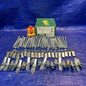 """Lot of five 5 1//4/"""" T-Toggle Bolt or Flat Head Sleeve Anchor 1-3//4 2-1//2 3-1//8/"""""""