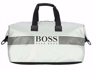Hugo-boss-Borsone-Pixel-Bianco-Golf-Borsa-Weekender-Nuovo-Athleisure