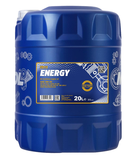 20 Liter Motoröl MANNOL Energy 7511 SAE 5w-30, VW 502.00 505.00, MB 229.3