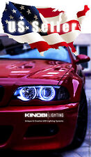 Brightest BMW M3 E46 3-Series White 7000K LED Halo-Angel Eye XENON kit Buy It!