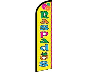 RASPADOS Yellow Windless Full Curve Top Advertising Banner Flag Spanish Food Dri