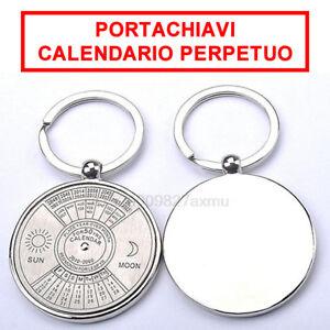 Perpetuo-Portachiavi-Calendario-50-Anni-Bussola-Portachiavi-mese-giorno-ab