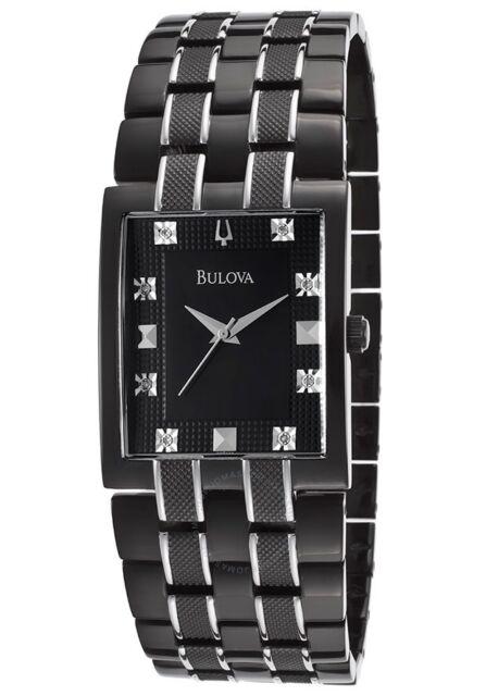 543eb37a9 Men's Black Bulova Diamond Dress Watch 98D111 for sale online | eBay