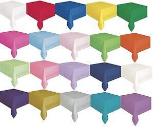Plastico-Forrado-Mantel-137cmx274cm-Paper-Poly-Liso-Macizo-Colores-Fiesta