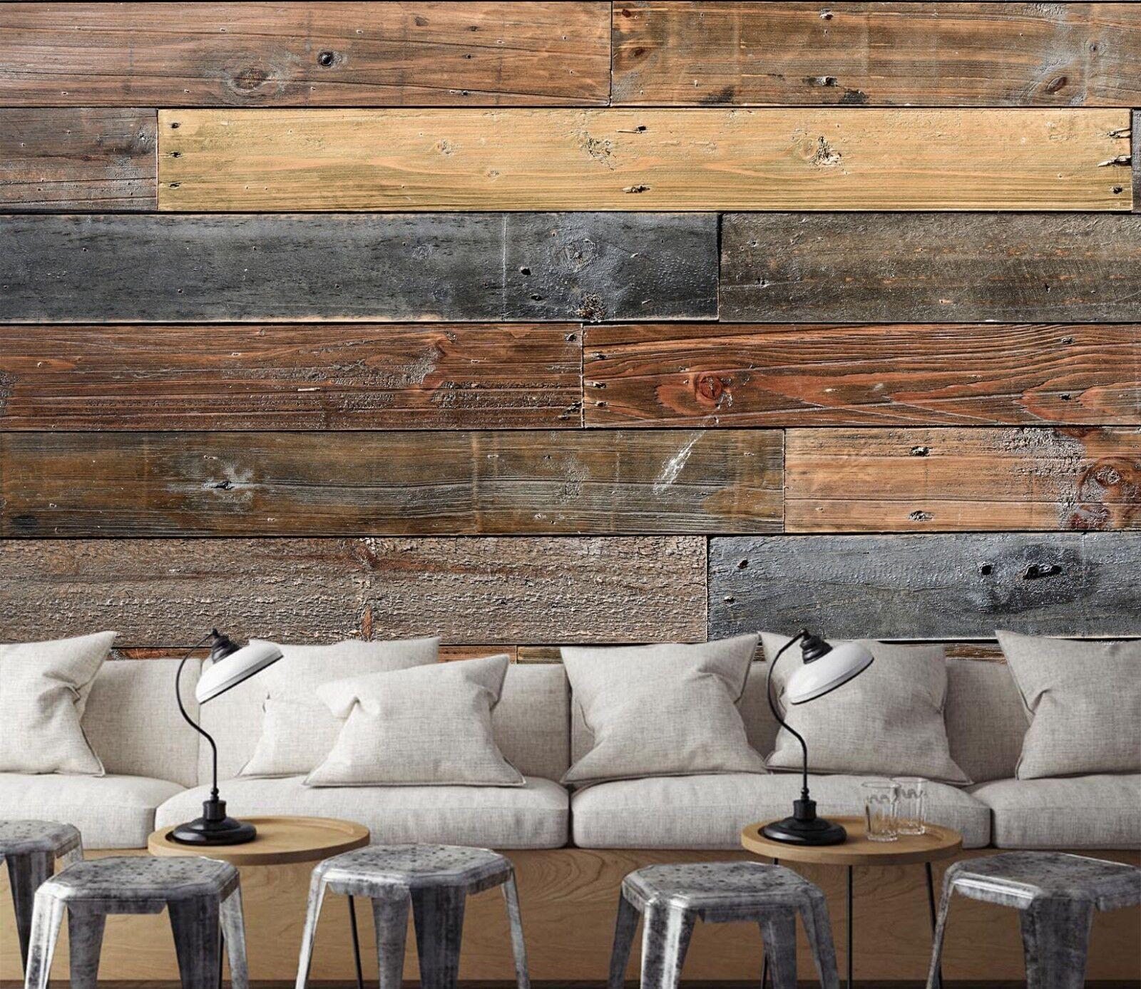 3D Braun Wood Board 454 Wall Paper Wall Print Decal Wall Deco Indoor Wall Murals