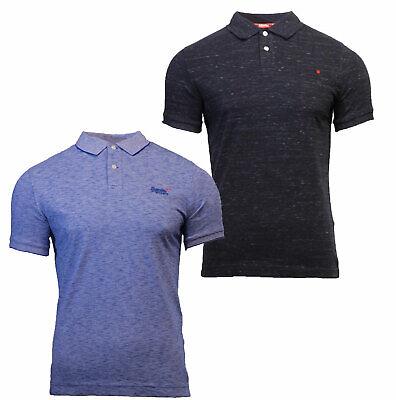 Superdry Men/'s Orange Label Jersey Polo Shirt Black