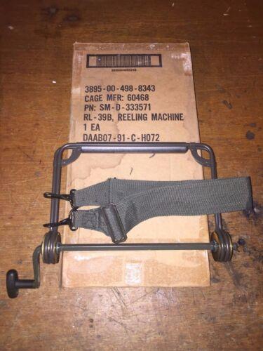 US Army Signal Corps RL-39B DR-8 Wire Spool Reeling Machine