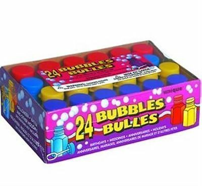 24 Assorted Bubbles and Wands Childrens Party Bag Fillers Birthday Wedding Kids