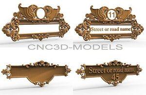 3D Model STL for CNC Router Engraver Carving Artcam Aspire Decor House Pano 1840