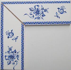 eckbord re f r fliesen nach delfter art bord re blau wei 10x5 neu ebay. Black Bedroom Furniture Sets. Home Design Ideas