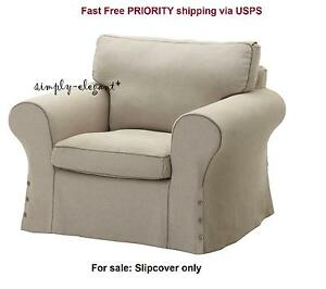 Image Is Loading Ikea SLIPCOVER For EKTORP Armchair Risane Natural Beige