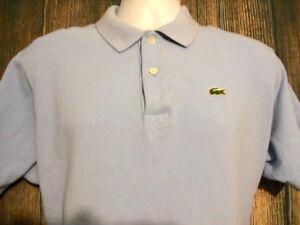 LaCoste-Mens-size-XL-7-Blue-Pique-Casual-Short-Sleeve-Polo-Shirt-Summer-Spring