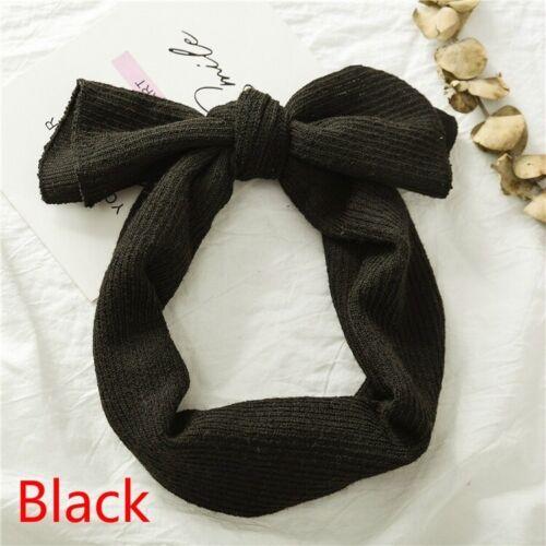 Children Knitting Elastic Baby Hairbands Bow Headband Headwrap Hair Accessories