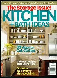 Better Homes Gardens Kitchen Bath Ideas Storage Issue Winter 2013 Ebay