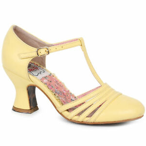 Bettie-Page-BP254-LUCY-Yellow-2-5-inch-T-Strap-Heel