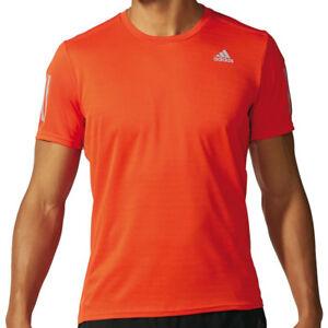 3fac4fcc04e4a Image is loading adidas-Response-Short-Sleeve-Mens-Running-Top-Orange