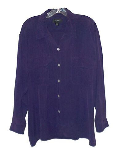 Blouse Silk House 100%-Silk Heavy Washable Purple