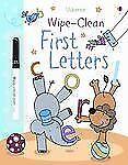 Wipe-Clean First Letters (Usborne Wipe-Clean Books)