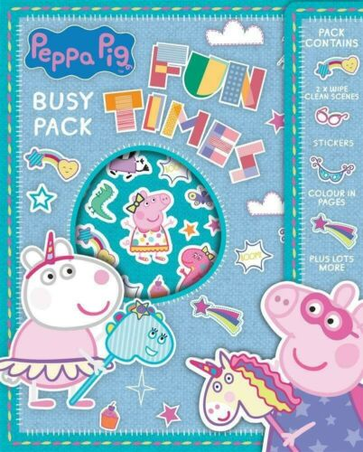 PEPPA PIG BUSY PACK COLOURING SHEETS STICKERS STOCKING FILLER KIDS CHRISTMAS
